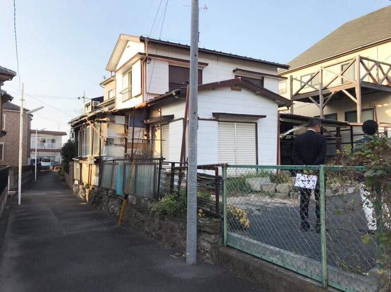 昭島 再建築不可の家 前面道路