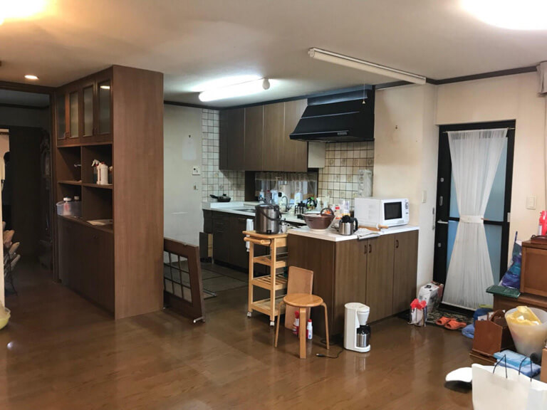 小金井 再建築不可 ゴミの家 キッチン