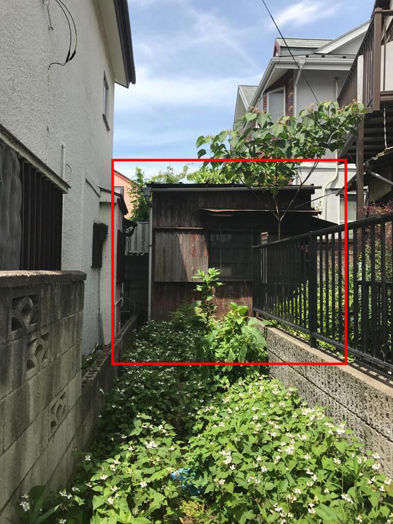 成田東 ゴミの家 再建築不可の家 外観