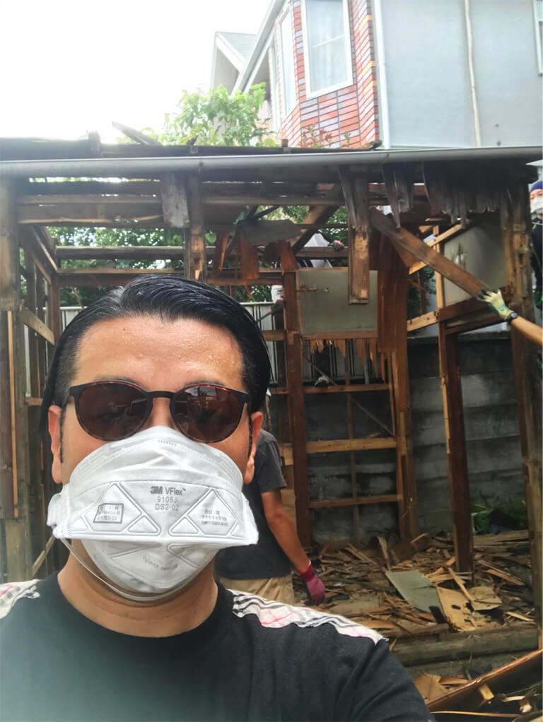 成田東 ゴミの家 再建築不可の家 小屋解体中