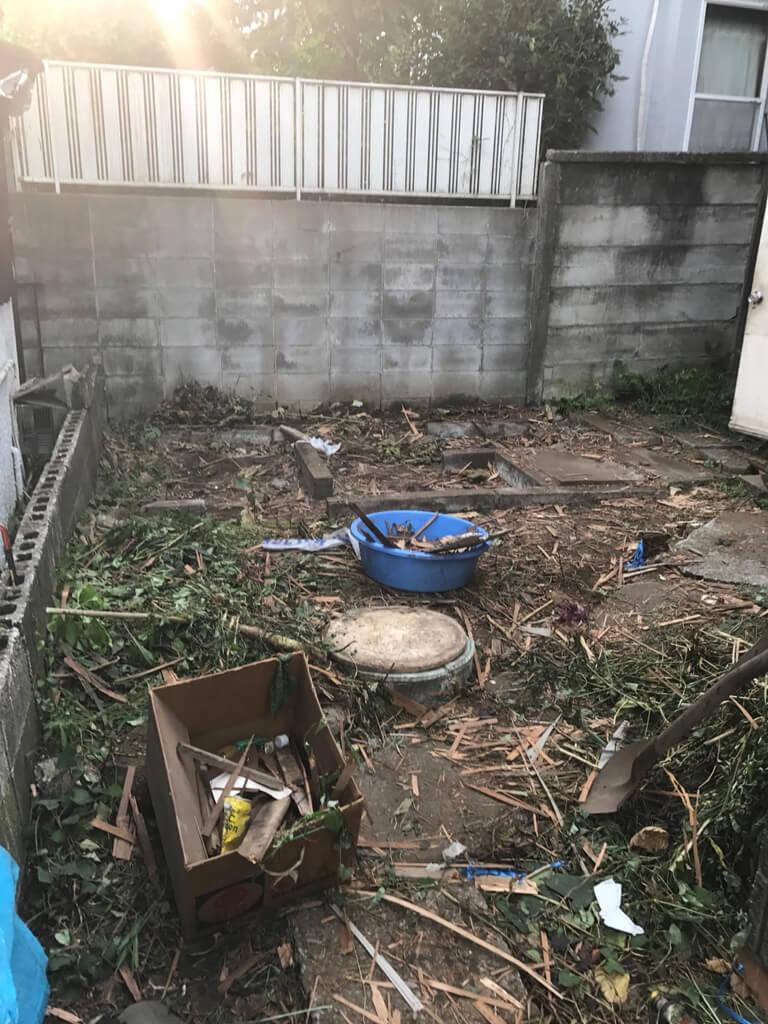 成田東 ゴミの家 再建築不可の家 小屋解体後