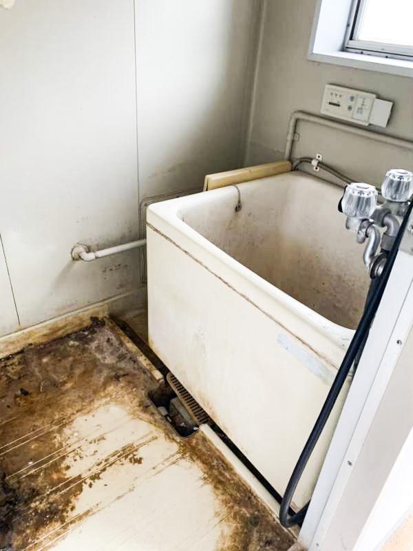 鎌倉笛田 入居率30%以下ご高齢者率100%アパート 室内 お風呂