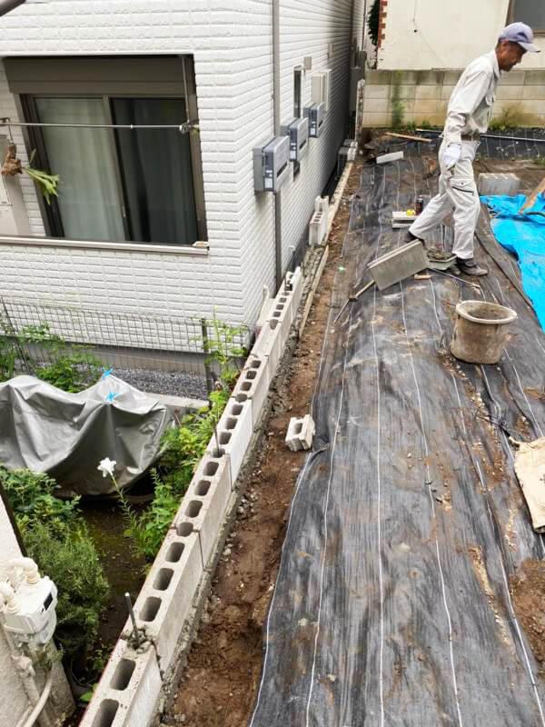 ブロック改修工事 赤羽 未接道再建不可の更地