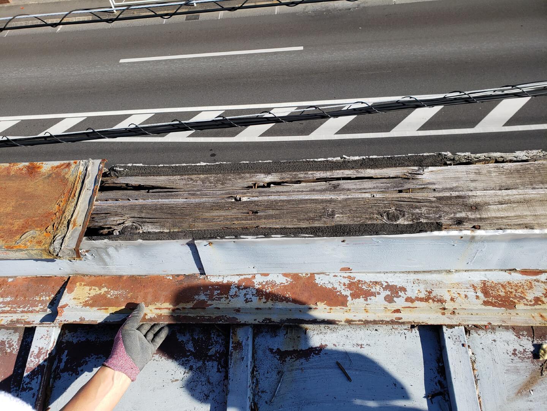 屋根施工前 国立市谷保 室内ボロボロ・雨漏り・連棟の家
